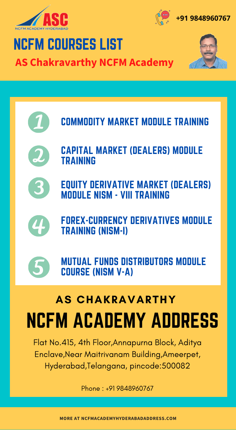 NCFM Academy Hyderabad NCFM courses list