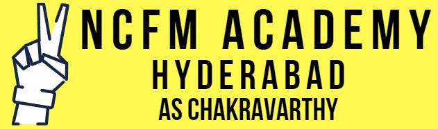 its a logo of ncfm academy hyderabad